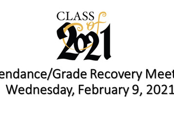 1st SEMESTER ATTENDANCE & GRADE RECOVERY IS HAPPENING NOW!!!