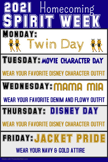 Show us your spirit! Homecoming is next week!!!