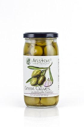 Greek Green Olives w/ Garlic