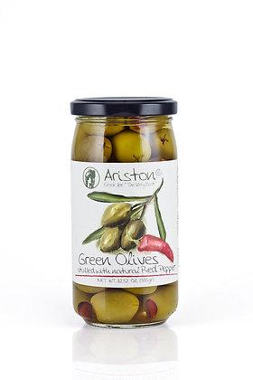 Greek Green Olive w/ red pepper