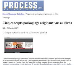 Article Process Alimentaire - Comptoir des Salaisons et packaging originaux SIRHA 2017 - 30 01 2017
