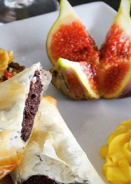 croustilant de boudin marseillais aux figues roties, recette, idee conseil, Provence, Charcuterie, Comptoir des Salaisons, boudin marseillais