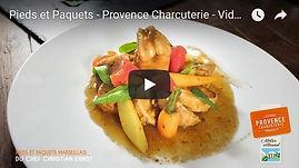 video recette de pieds et paquets marseillais , fabriqués artisanalement, longuement mijotés, spécialité provencale, gastronomie provencale, Comptoir des Salaisons, Provence Charcuterie