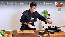 video , saucisse italienne, rosotto de ates , recette, Comptoir des Salaisons, Provence Charcuterie
