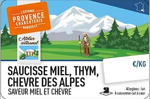 Saucisse_miel,_thym_et_chèvre_des_Alpes_