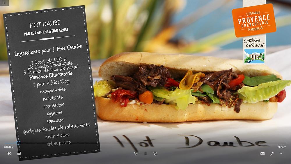 Découvrez la recette du Hot Daube : la Daube Provencale en mode snacking !