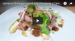 video , recette, jambon l'Estaque, braisé, chef marseillais, Christian Ernst, Provence, Charcuterie, Comptoir des Salaisons