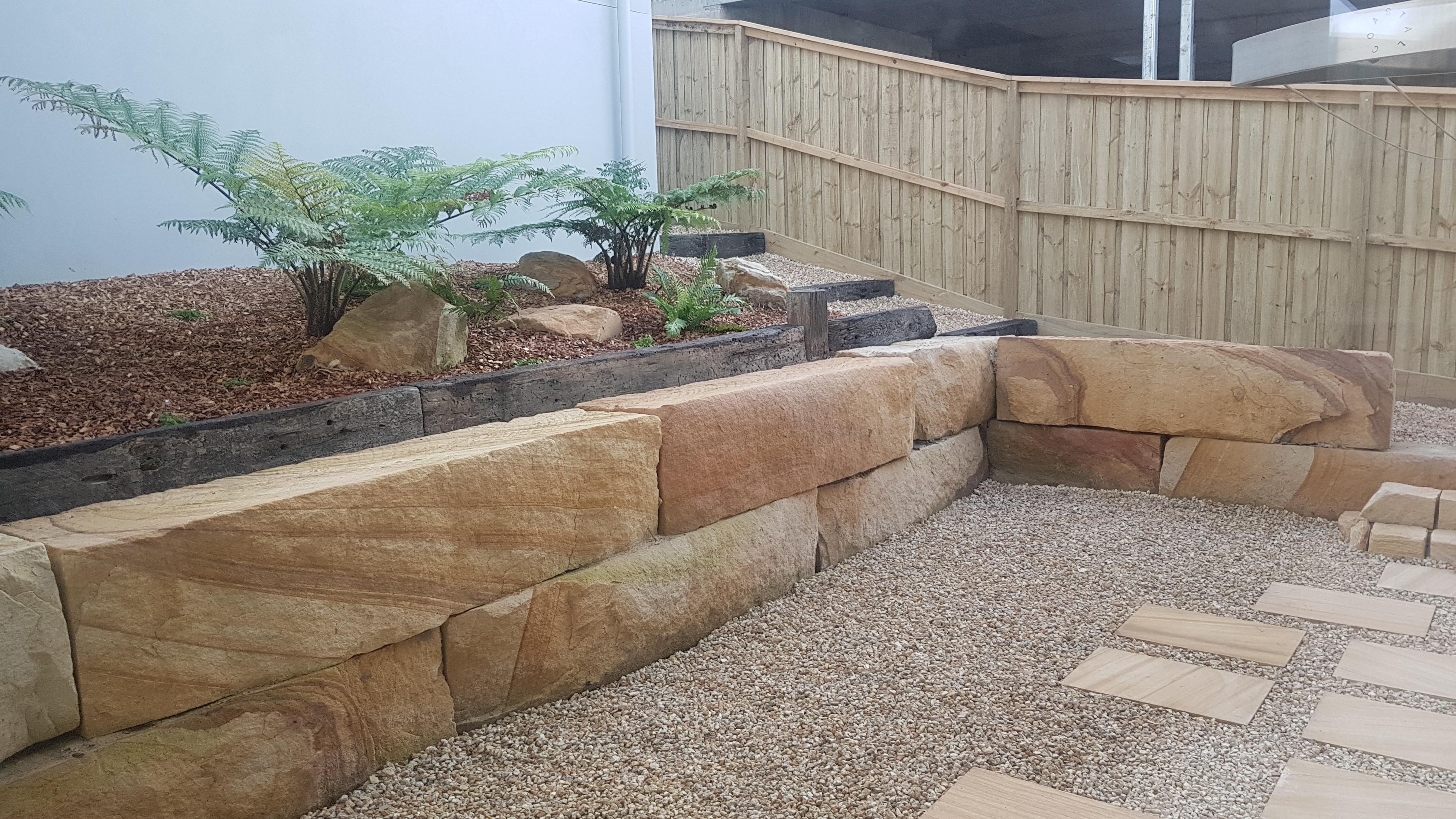 Catherine Bay Sandstone Courtyard