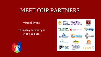 MEET OUR PARTNERS Virtual Event Thursday