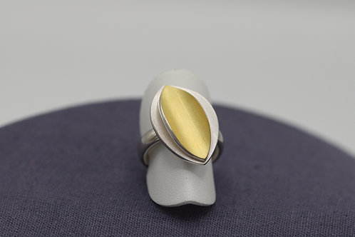 "Ring ""Silber mit Feingold"""