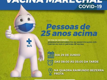 SECRETÁRIA MUNICIPAL DE SAÚDE ANUNCIA VACINAÇÃO CONTRA COVID -19 PARA NOVA FAIXA ETÁRIA