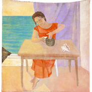 Giusi, tempera su tela, 120x120 cm ca, 2