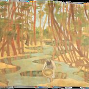 Il setaccio, pigmenti su tela, cm 160x13