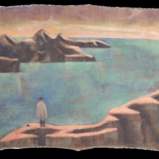 Finisterre, pigmenti su tela, cm 140x120