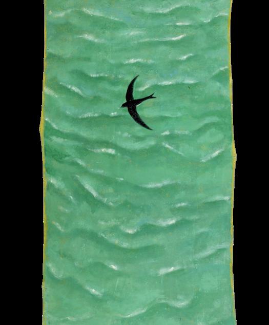 La traversata, pigmenti su tela, 160x45