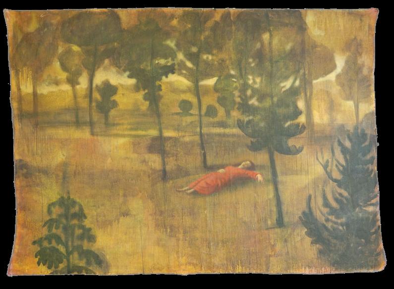 Dopo la battaglia, pigmenti su tela, cm