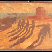 Vento del Sahara, pigmenti su legno, cm
