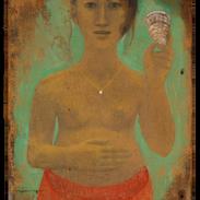 La perla, 82x57 cm, tempera su tavola, 2