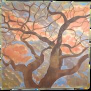 Gennaio, pigmenti su tela, cm 160x160 cm
