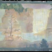 Le due cascate, pigmenti su tela, 160x22
