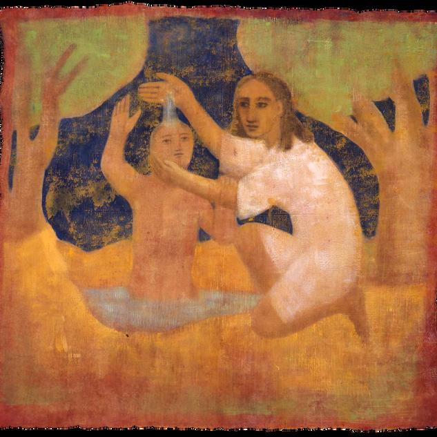 Il bagno, tempera su tela, 150x150 cm, 1