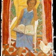 Carla, tempera su tela, 180x95 cm, 2004.