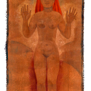 Eccomi, tempera su tela, 150x72 cm,  200