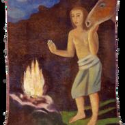 Notturno, tempera su tela, 160x130 cm, 2