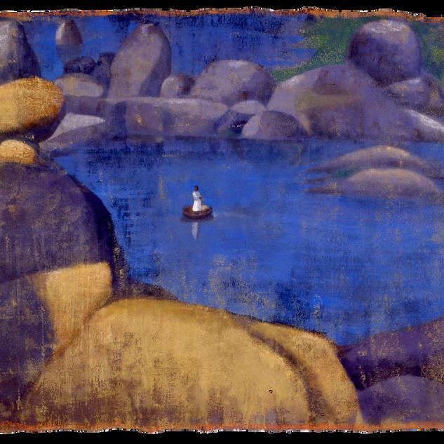 Hampi, tempera su tela, 150x170 cm, 1998