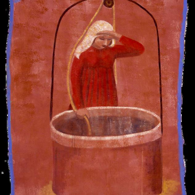 Al pozzo, tempera su tela, 180x150 cm, 1