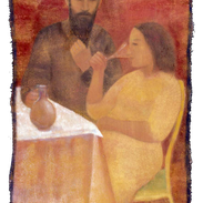 Vita, tempera su tela, 150x85 cm, 2000.p