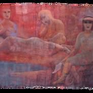 _ Pigmenti su tela, cm 150 x 230,  1994.