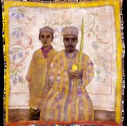 Sukkott, tempera su tela, 160x145 cm, 19