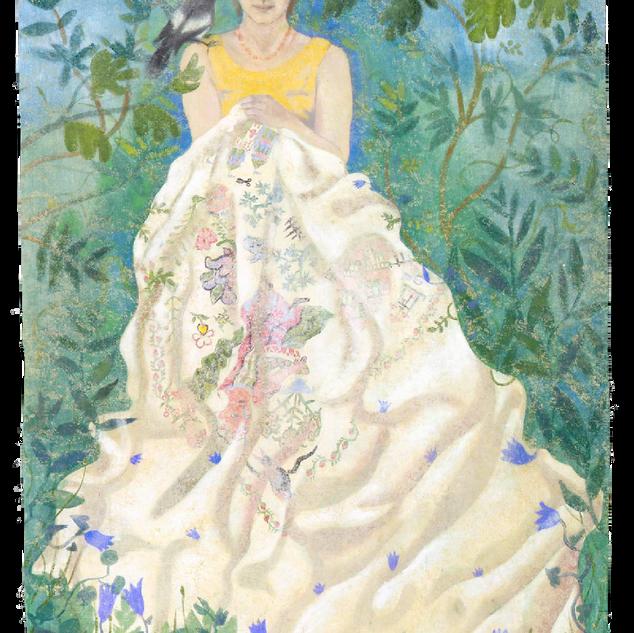 Clara, tempera su tela, 180x120 cm, 2004