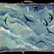 la traversata II, 2008, pigm su tela, 15