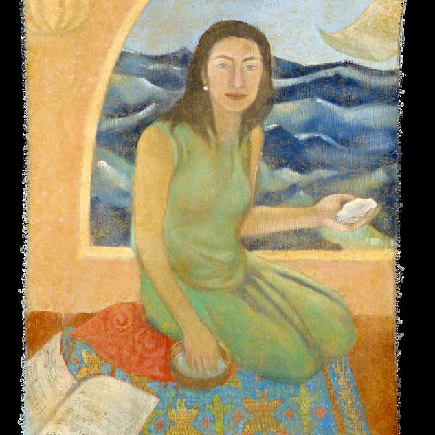 Cristina, tempera su tela, 150x80 cm, 20