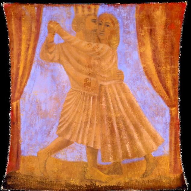 La danza, tempera su tela, 160x150 cm, 2