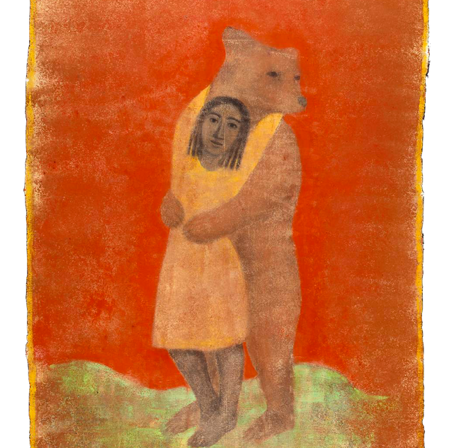 Rosso amore, tempera su tela, 210x150 cm