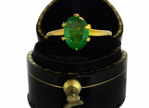 The Penelope Emerald Solitaire Ring