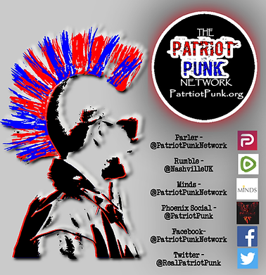 Patriot punk social media handles and lo