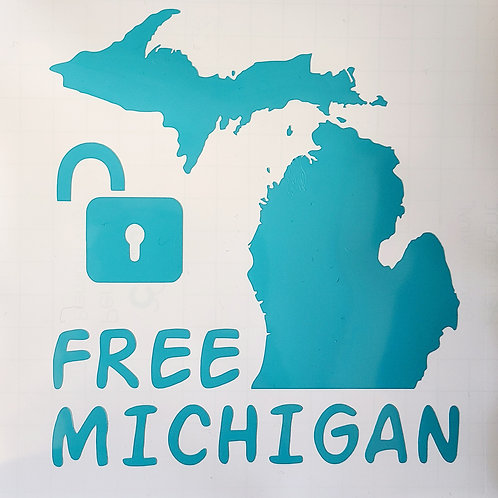 "Free Michigan Window Decal 7""x7.5"""