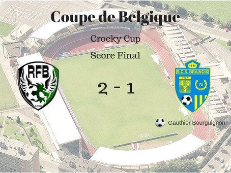 Coupe de Belgique: élimination avec les honneurs