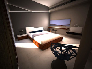 George presents a hotel room at Benaki Museum 2016