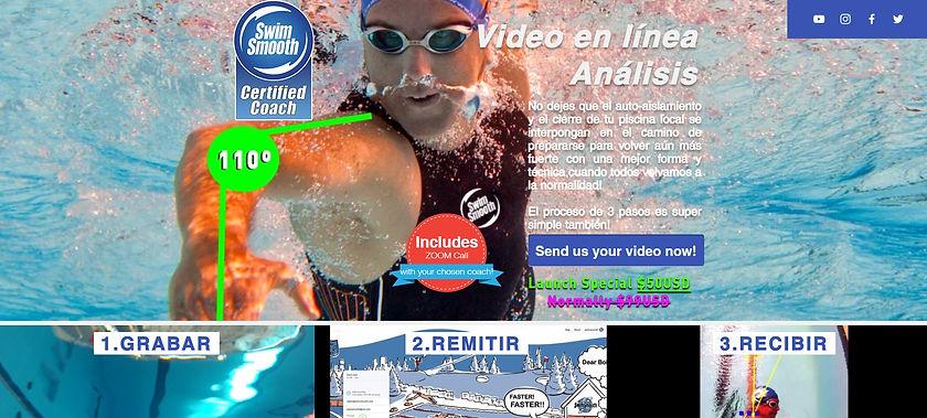 técnica natación, vídeo análisis, antes y después de la sesión