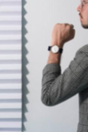 navy blue watch, nato strap, minimal watch , classic watch , modern watch , gift