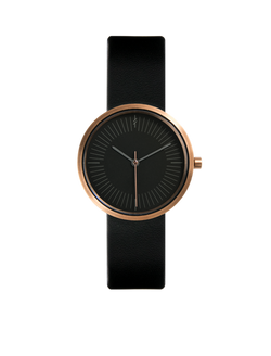 amber black ladies watch
