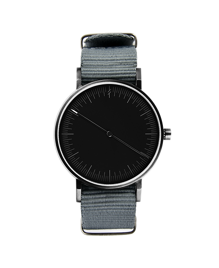 watches ,minimal watch , simpl watch ,one hand watch , modern watch ,nato strap , grey watch