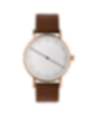 design watch , rose gold watch ,one hand watch