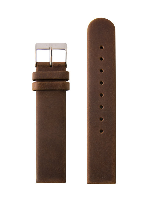 BROWN STRAP / SILVER BUCKLE