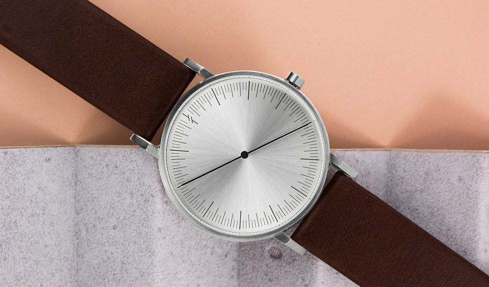 design watch , leather strap ,one hand watch , design watch , rose gold watch ,one hand watch ,simpl watches , นาฬิกา simpl , watch store ,modern watch , minimal watches, classic watch